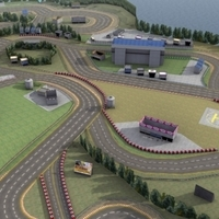 Racetrack_3DGameModel 3D Model