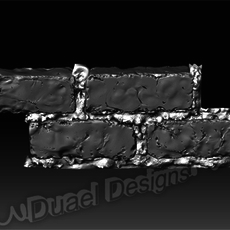 Bricks and Cement 3D Model