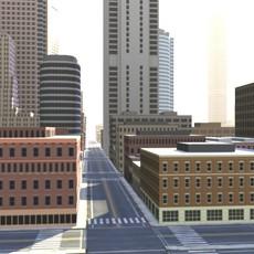 city (lowpoly) 3D Model