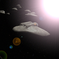 FREE space fighter fleet (animated) 3D Model