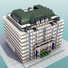 Luxury Paris Apartment Building 3D Model