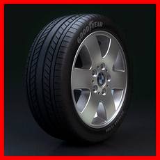BMW Wheel - Rim and Tire 3D Model