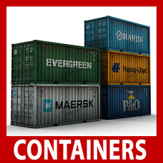 ISO Cargo Containers Pack 3D Model