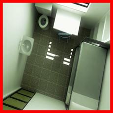 Modern Prison Cell 3D Model