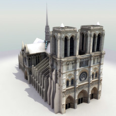 Notre Dame de Paris Cathedral 3Dmodel 3D Model