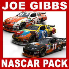 Nascar COT Stock Cars - Joe Gibbs Racing Pack 3D Model