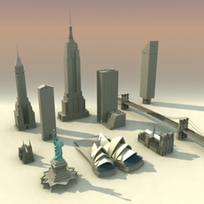 Landmarks Volume-01 3DModel Collection 3D Model