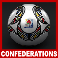 Teamgeist Official South Africa 2009 FIFA Confederations Cup Ball 3D Model