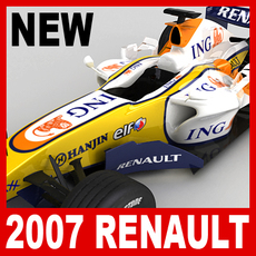 2007 F1 ING Renault R27 3D Model
