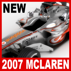 2007 F1 Vodafone McLaren MP4-22 3D Model