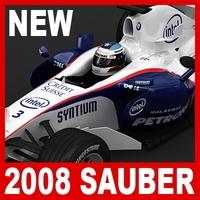 2008 F1 BMW Sauber F1.08 3D Model