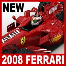 2008 F1 Ferrari F2008 3D Model