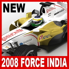 2008 F1 Force India VJM01 3D Model