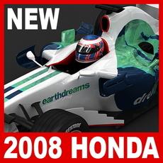2008 F1 Honda RA108 3D Model