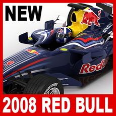 2008 F1 Red Bull RB4 3D Model