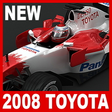 2008 F1 Toyota TF108 3D Model