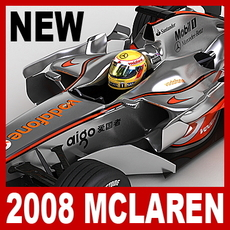 2008 F1 Vodafone McLaren MP4-23 3D Model