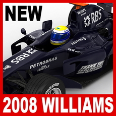 2008 F1 Williams FW30 3D Model