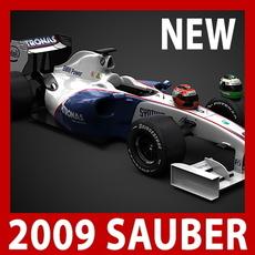 2009 F1 BMW Sauber F1.09 3D Model