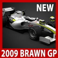 2009 F1 Brawn GP BGP 001 3D Model