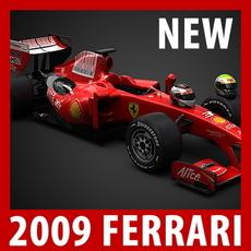 2009 F1 Ferrari F60 3D Model