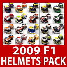 2009 F1 Helmets Pack 3D Model
