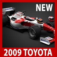 2009 F1 Panasonic Toyota TF109 3D Model
