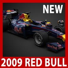 2009 F1 Red Bull RB5 3D Model