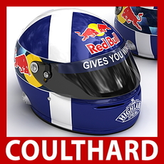 David Coulthard F1 Helmet 3D Model