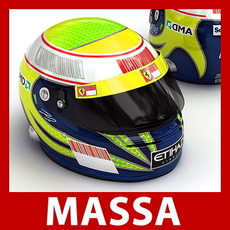 Felipe Massa F1 Helmet 3D Model