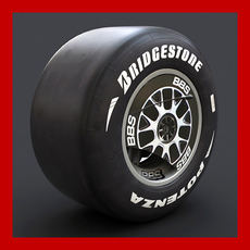Ferrari F60 Wheel with Slicks 3D Model