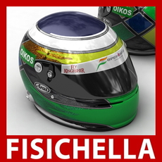 Giancarlo Fisichella New F1 Helmet 3D Model