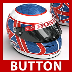 Jenson Button F1 Helmet 3D Model