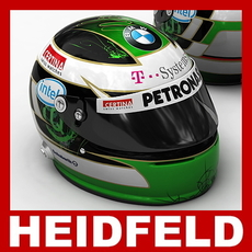 Nick Heidfeld F1 Helmet 3D Model