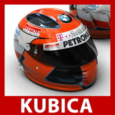 Robert Kubica F1 Helmet 3D Model