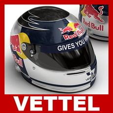 Sebastian Vettel F1 Helmet 3D Model