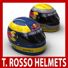 Sebastien Buemi and Sebastien Bourdais F1 Helmets 3D Model