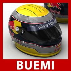Sebastien Buemi F1 Helmet 3D Model