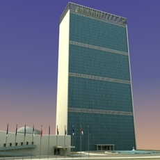 United Nations Building NYC 3DModel 3D Model