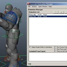 Axtended Animation Manager - FBX/PSA for Maya 1.5.0 (maya script)