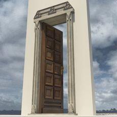 Solid Door 3D Model