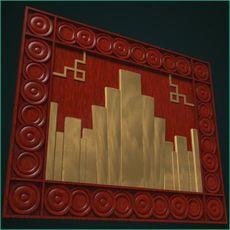 Art Deco Mural 3D Model