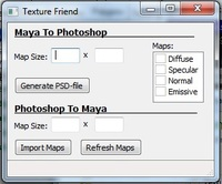 Texture Friend 1.0.0 for Maya (maya script)