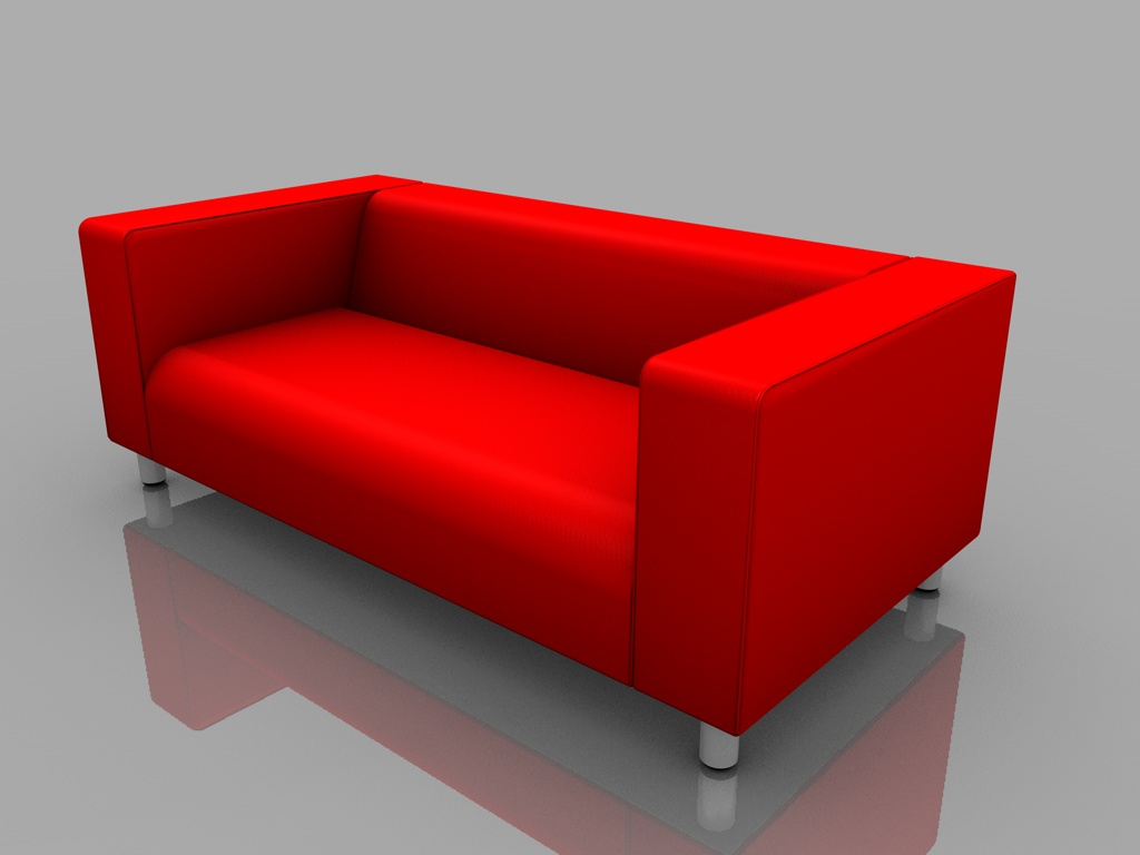 ikea sofa klippan 3d model. Black Bedroom Furniture Sets. Home Design Ideas