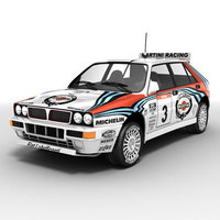 Lancia Delta rallycar 3D Model