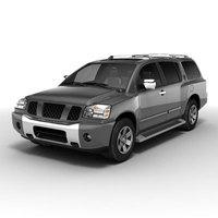Nissan Pathfinder Armada 3D Model