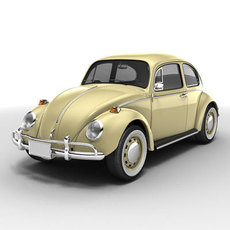 Volkswagen Beetle -68 3D Model