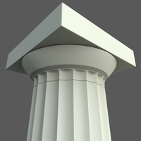 Doric column Parthenon type 3D Model