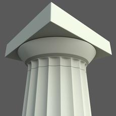 Doric column Parthenon type 3D Model