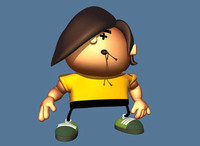 Cartoon Guy 3D Model